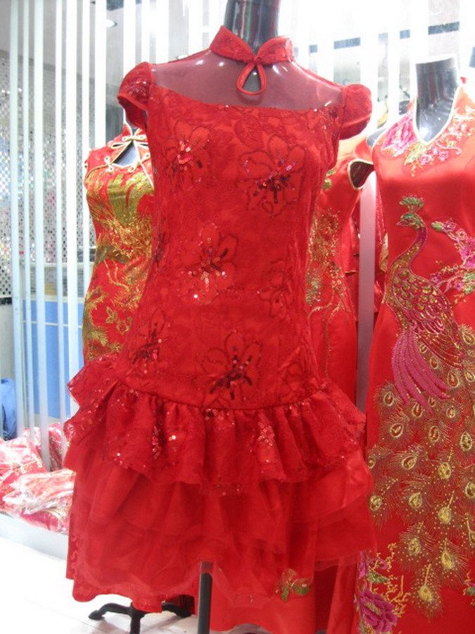 Wedding dress the bride cheongsam cheongsam dress summer 2014 new short section of the bride long red fishtail dress toast clothing