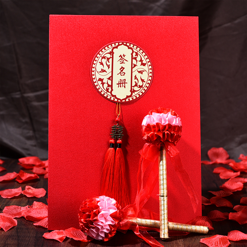Wedding guests sign this creative gifts this signature book of chinese wedding ceremony thin roster wedding supplies