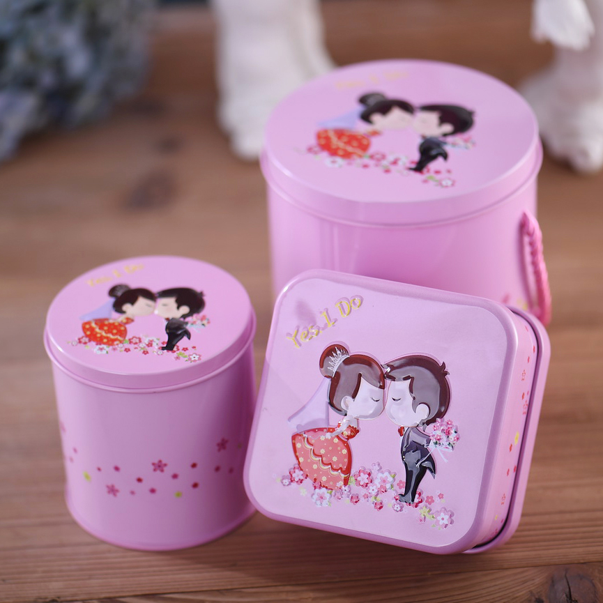 Wedding supplies creative korean wedding candy box wedding tin box tin horses mouth sweet honey wedding candy box