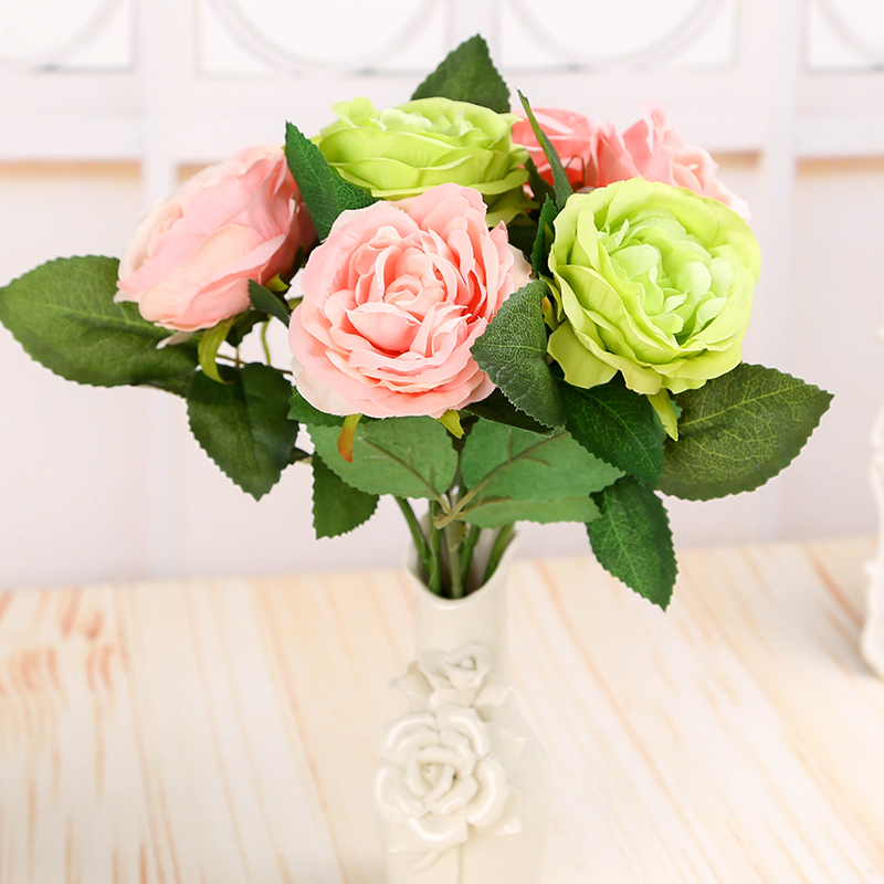 Wedding supplies decorative artificial flowers simulation roses bouquet of artificial flowers table flowers wedding decoration supplies