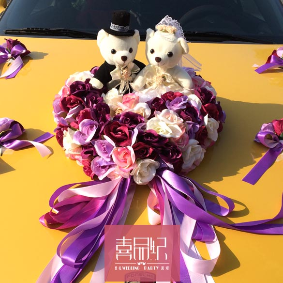 Wedding supplies wedding wedding wedding car \ \ \ front flower floats decorated wedding car decoration \ 2015 wedding car