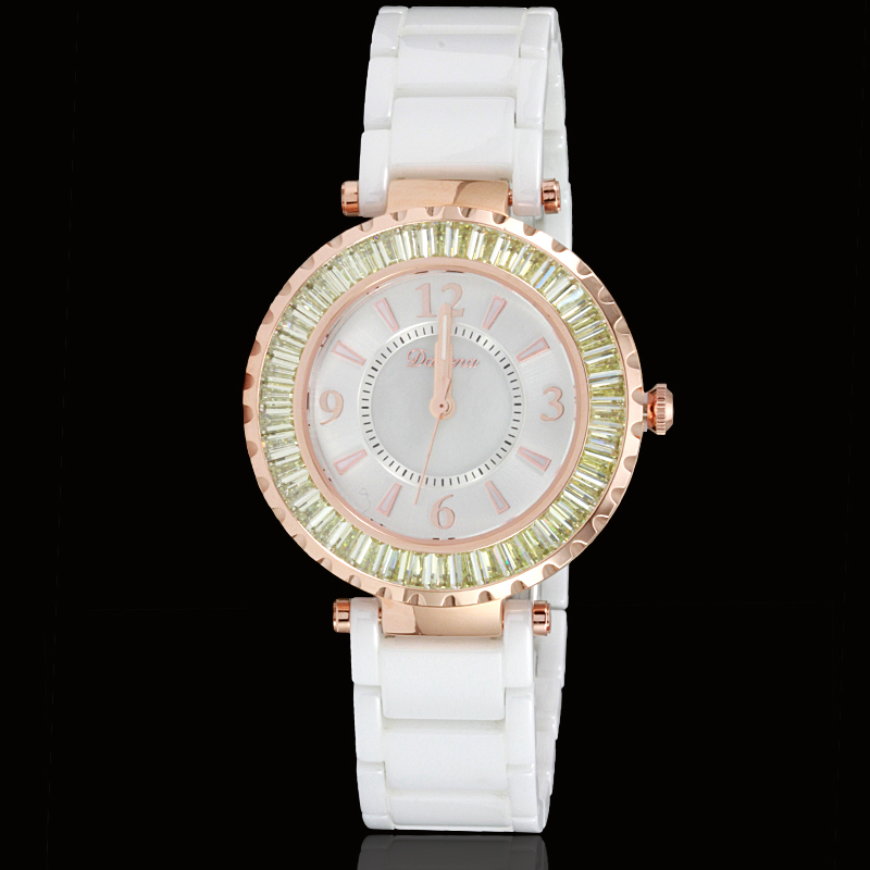 Wei di na davena genuine new fashion exquisite luxury diamond watches ceramic ladies watch 60353 waterproof