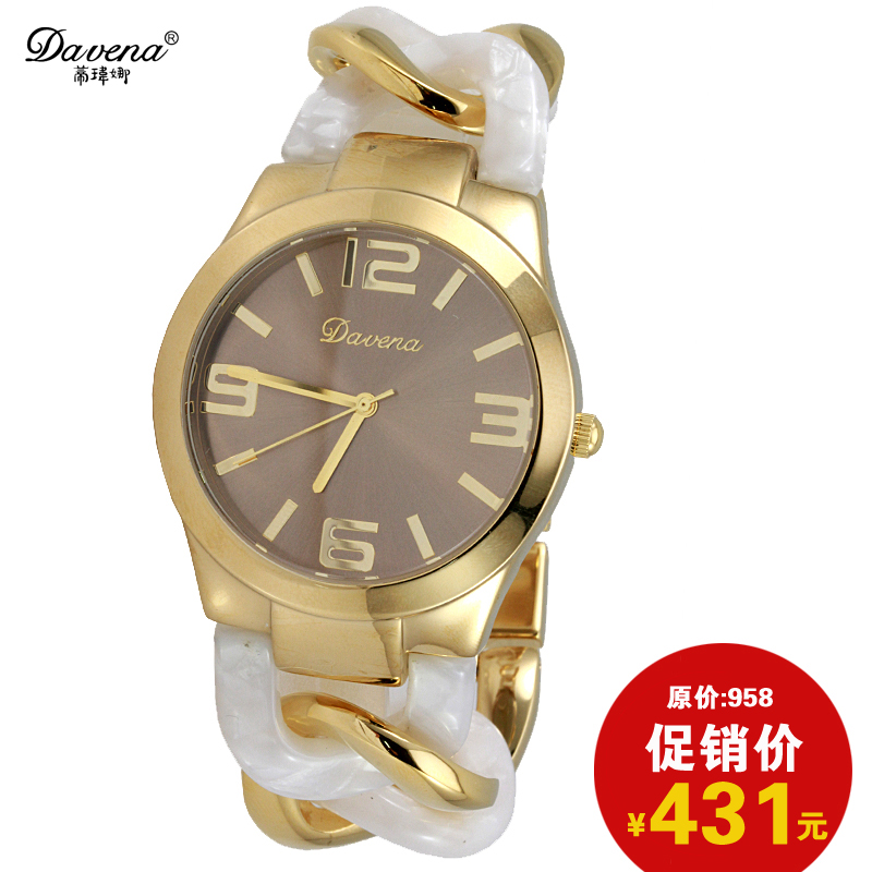 Wei di na davena genuine personality big european and american style bracelet fashion watch female form fashion watches hollow buckle
