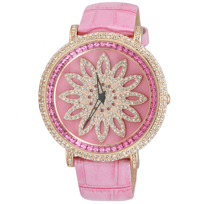 Wei di na genuine davena fortunes blossoming diamond watch diamond watch really leather influx of 30063
