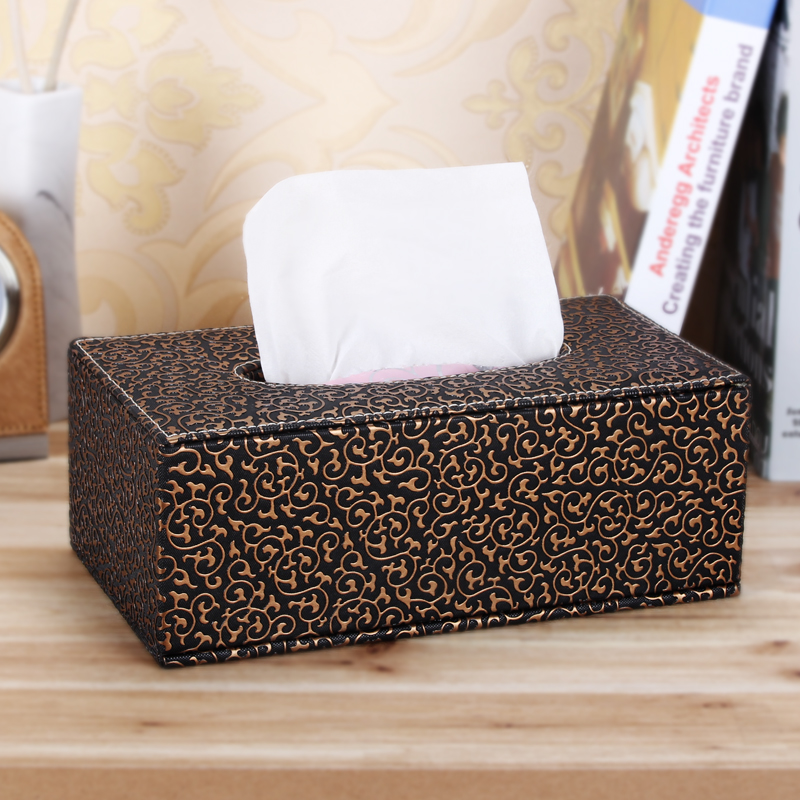 Wei maiqi european fashion creative tissue box tissue box pumping pumping paper carton box continental carved grain leather tissue box car home