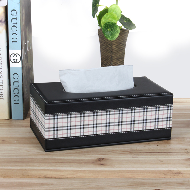 Wei maiqi european household paper drawn box creative free shipping high fashion solid wood handmade luxury leather tissue box tissue box