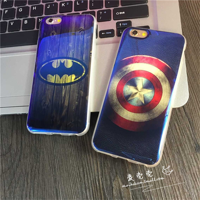 Wei man captain america batman iphone6 phone shell apple 6 protective sleeve full edging soft shell plus6 +