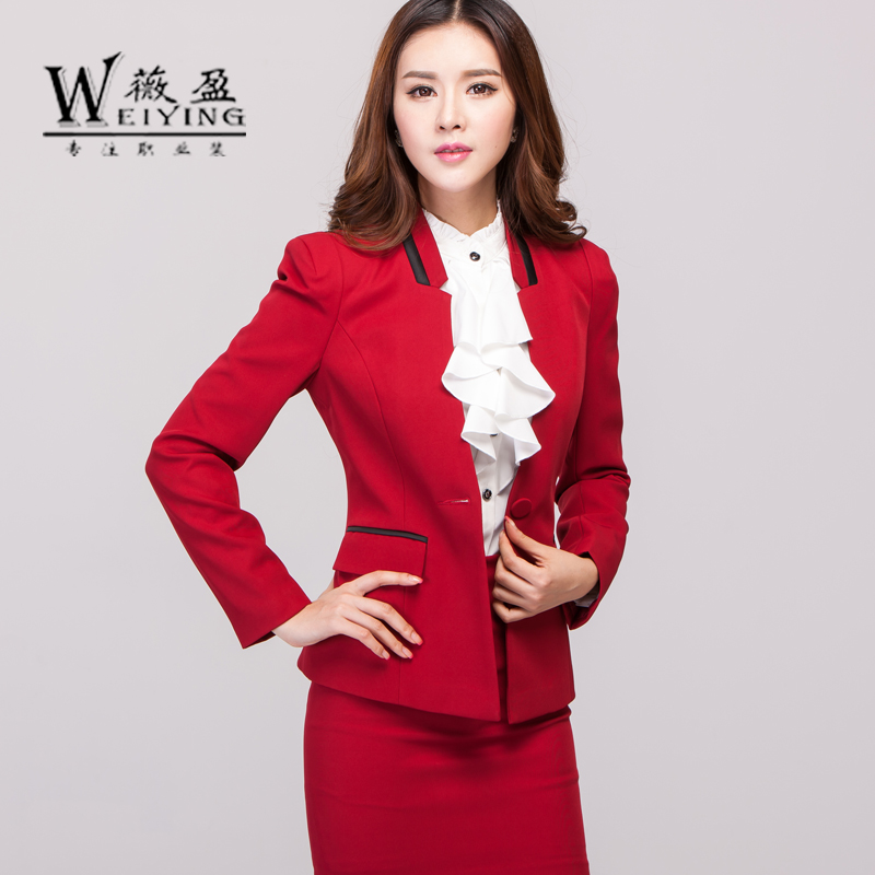 Wei ying autumn and winter wear women's skirt suits chaps hotel uniforms overalls suit dress suits women