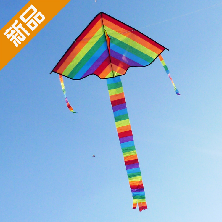 Weifang kite kite elliot striped rainbow children's cartoon kite kite new reel genuine good fly