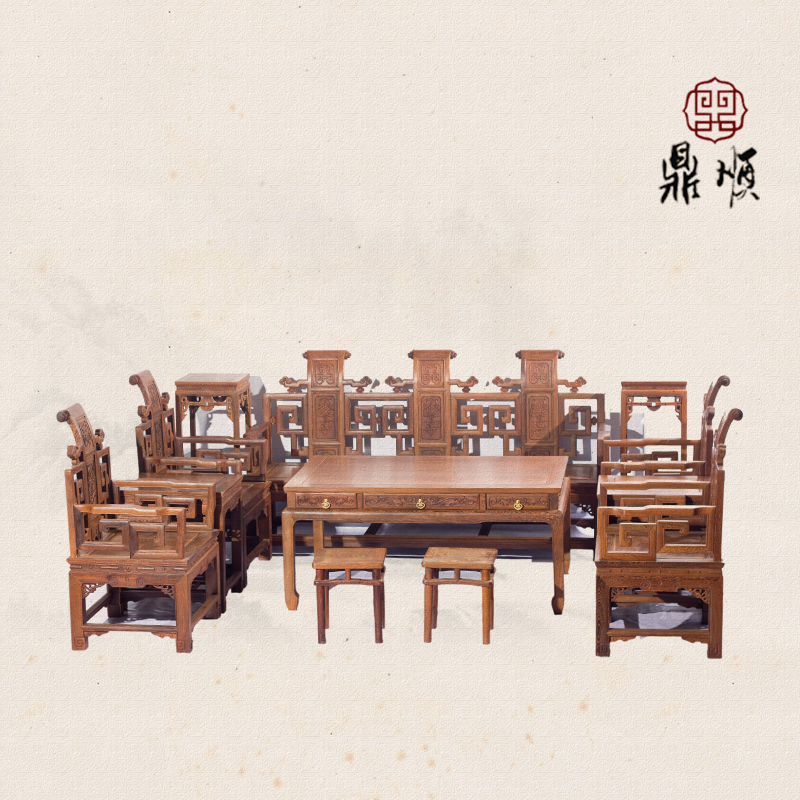 Wenge wood sofa sofa sofa ten sets/chinese antique mahogany sofa/wood sofa/living room sofa/sofa fairview