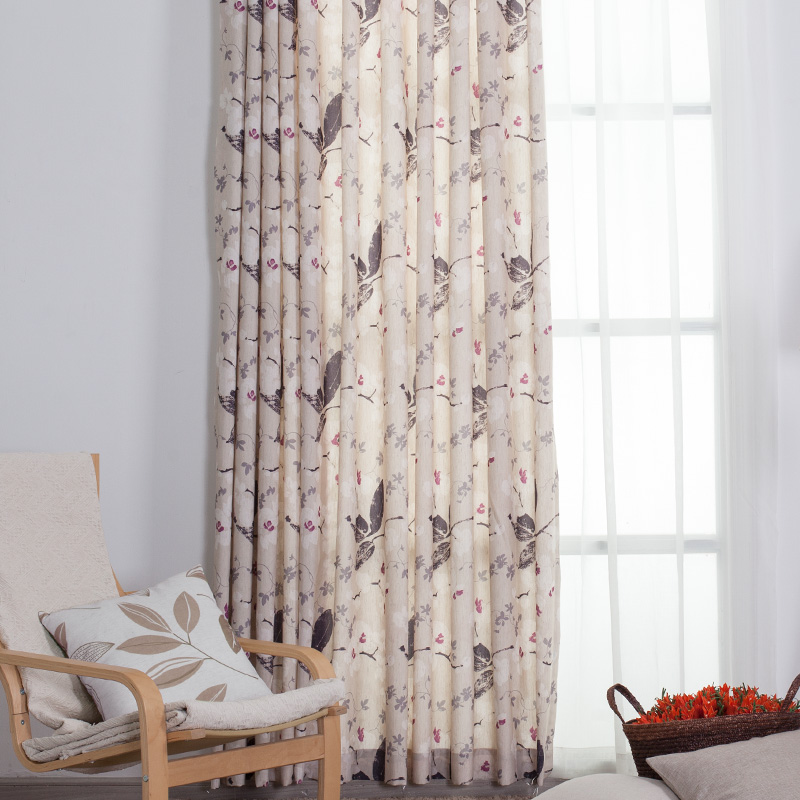 West chamber] [hot custom finished linen shade cloth living room bedroom windows and curtains pastoral suxiang