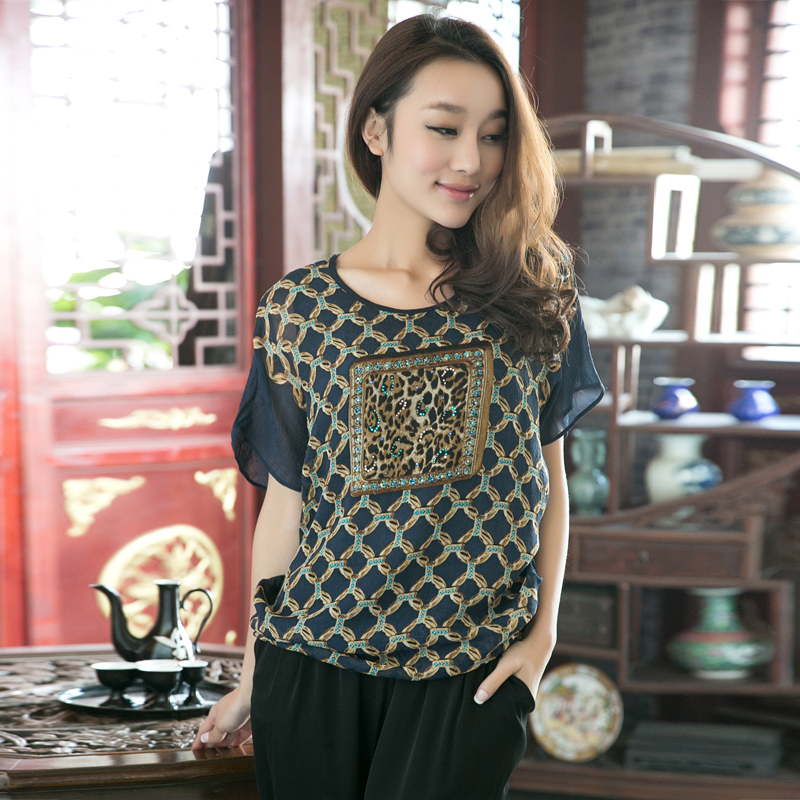 5abfc8a1b8505 Get Quotations · West love song clearance summer new silk blouse silk  chiffon shirt lady chiffon blouse 061081