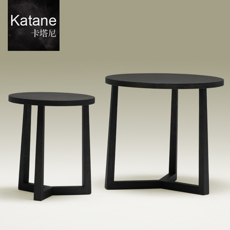 Whakatane round oak coffee table round coffee table a few modern minimalist living room combination beijing shipping