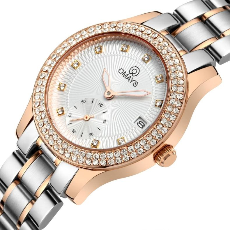 When authentic european and american fashion diamond ladies watch ladies watches luminous waterproof steel watches female form quartz watch