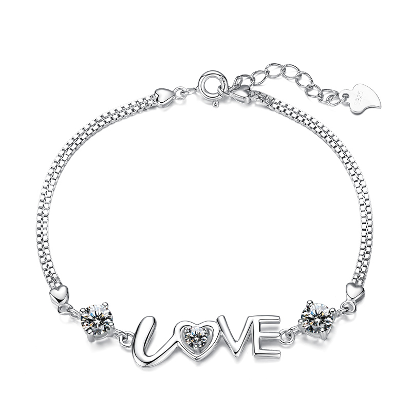 Where the mound 925 silver bracelet love personalized bracelet bracelet ms. korean fashion jewelry lovers birthday gift