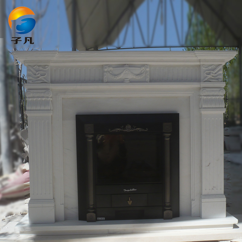 Where the sub beautifully carved white marble fireplace fireplace marble fireplace fireplace continental simple flow line BL89