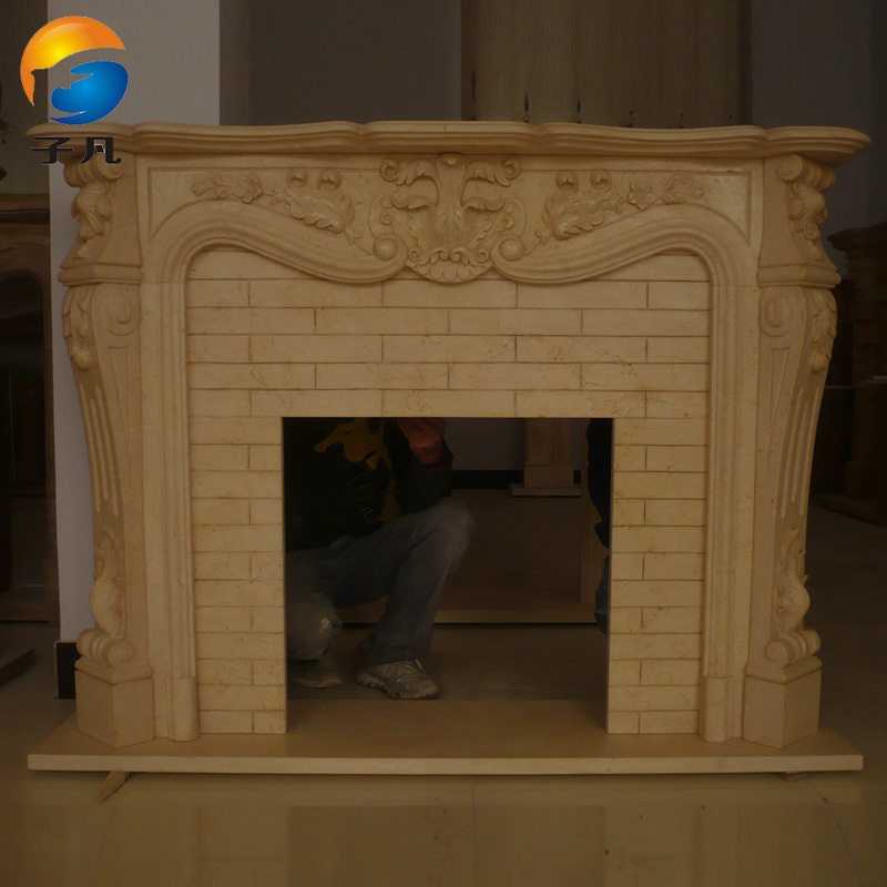 Where the sub euclidian natural carved white marble stone carving stone fireplace mantel decoration cabinet cheap bl42