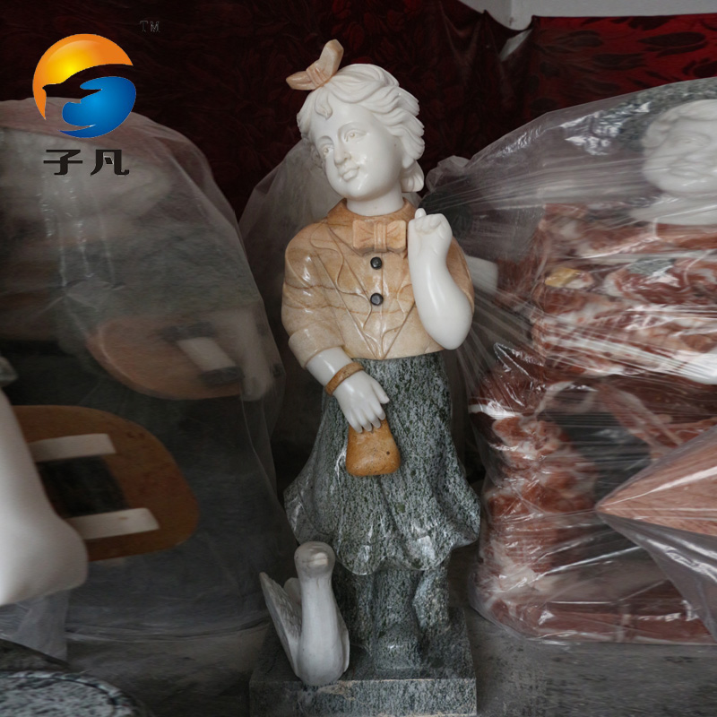 Where the sub euclidian stone carving marble small boy spell color western figure sculpture crafts ornaments xf05