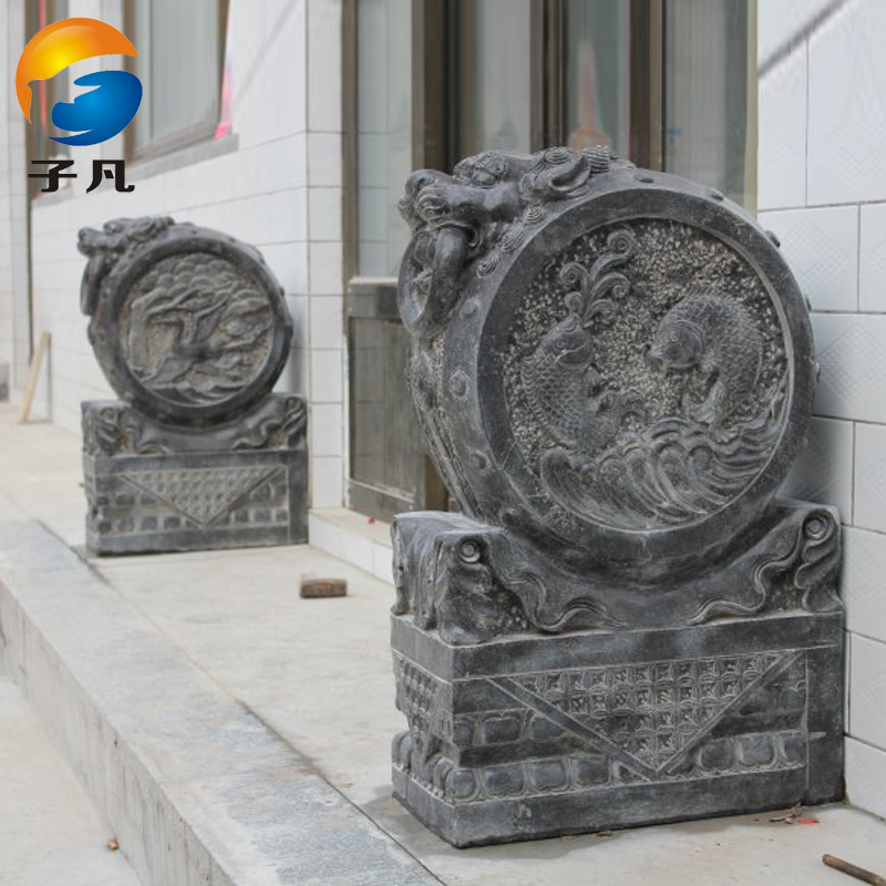 Where the sub genuine antique holding drum exquisite stone carving stone carving stone lions mendun mendun lionhead MD174