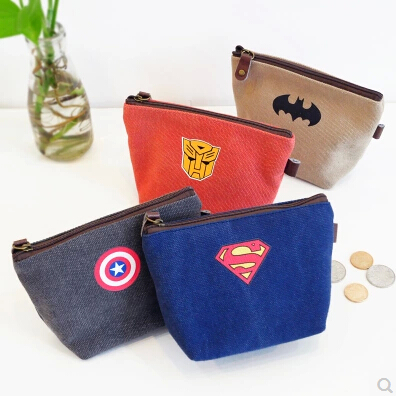 Where yoofun excellent stationery korean models z shipform hero theme creative canvas purse wallets coin bag