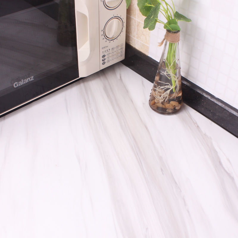 White marble imitation marble adhesive stickers waterproof cabinet furniture refurbished stickers stickers wardrobe cabinets