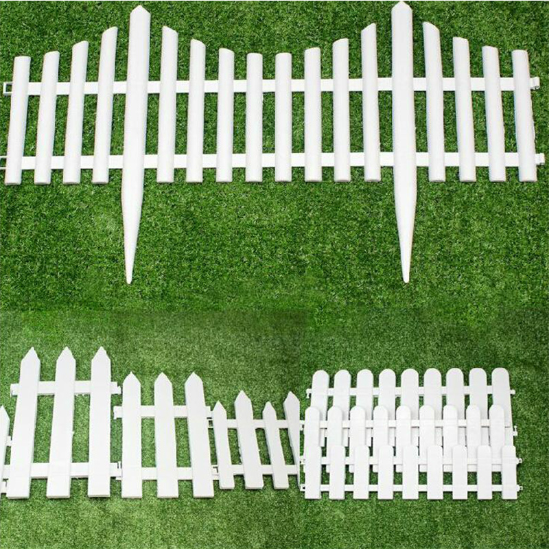 Get Quotations · White Plastic Fence Fence Garden Fence Garden Decorative  Parterre Garden Nursery Small Fence Fence Fence Christmas