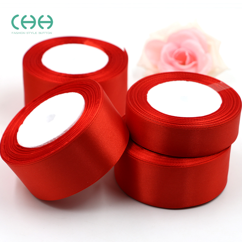 Wide bow cake with red ribbon gift packing cloth ribbon ribbon ribbon tape diy handmade decorative gift