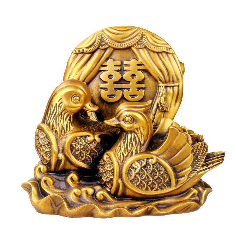Wide margin of german brass duck double happiness wedding wedding gift knick knacks ornaments home crafts gifts