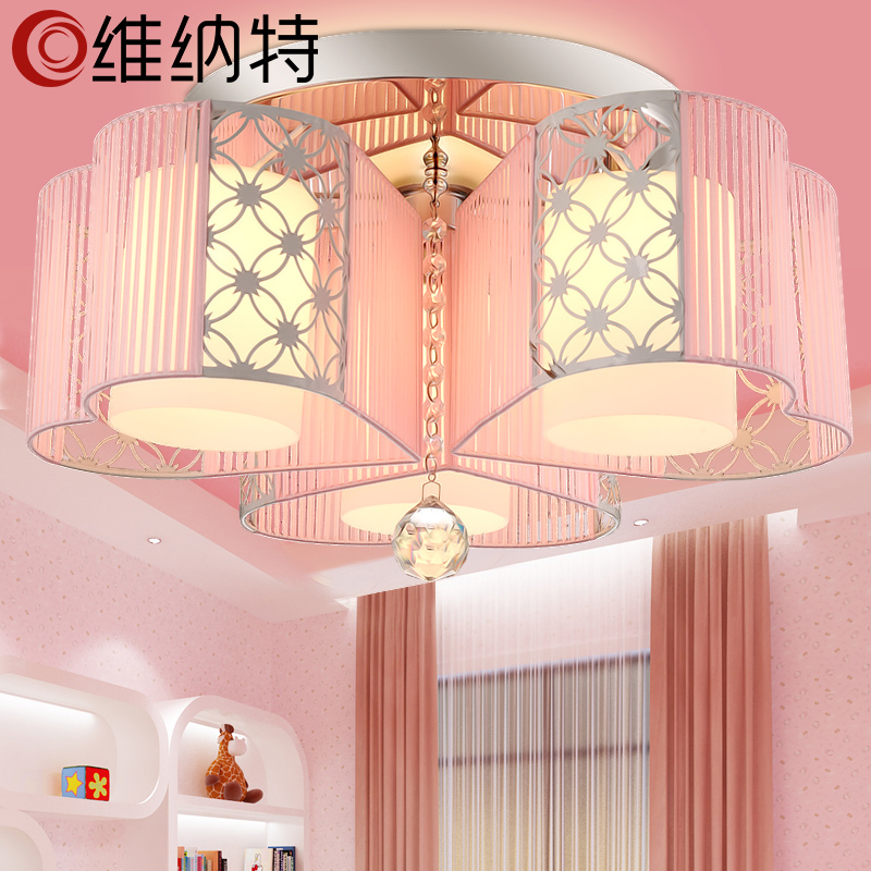 Wienert creative modern minimalist bedroom lamp romantic living room lights led crystal ceiling lamps decorated restaurant