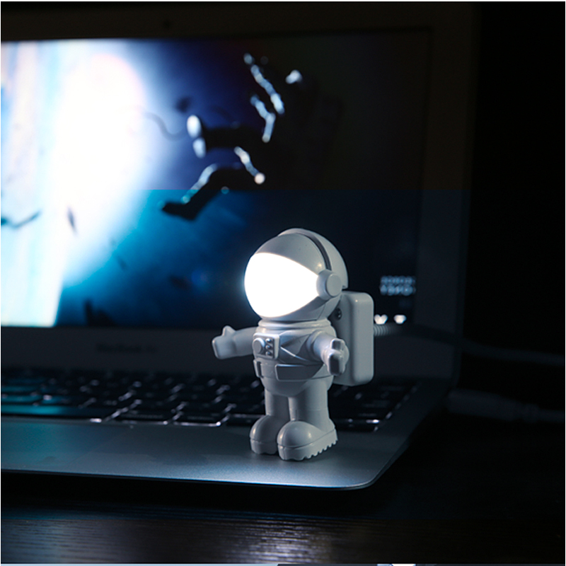 Will be obedient astronaut nightlight creative energy saving lamps bedroom bedside lamp with switch usb led keyboard light