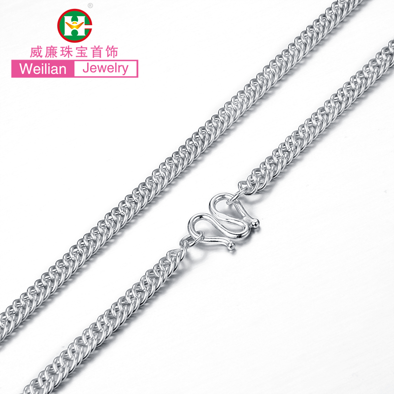 William twill whip necklace silver necklace silver jewelry s990 silver baby baby full moon birthday gift