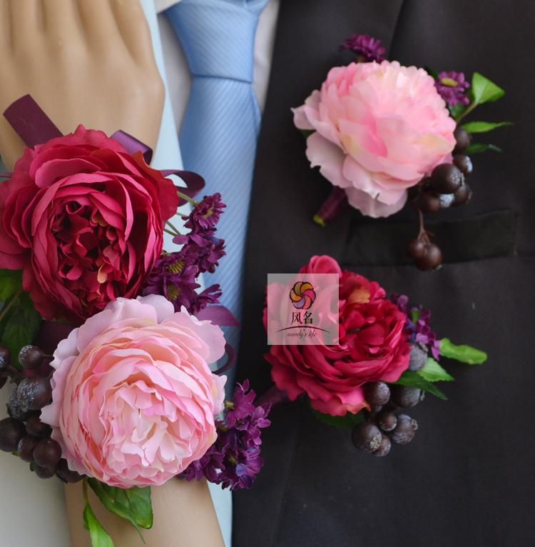 China light pink corsages china light pink corsages shopping guide get quotations wind name handmade artificial flowers wedding floral corsages and groom boutonniere pink rose lu lin small mightylinksfo