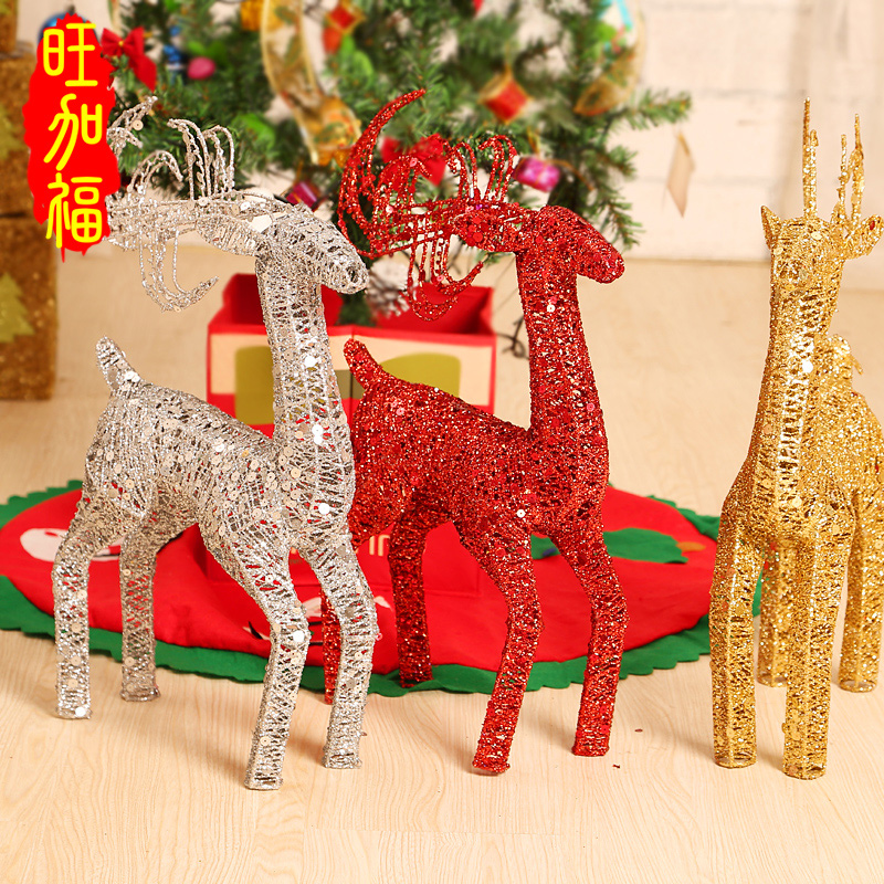 Window display christmas ornaments christmas decorations christmas tree accessories gifts gift christmas deer deer iron plating