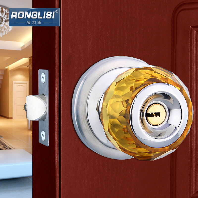 Wing tirith crystal euclidian bedroom interior door locks spherical ball lock room door lock ball lock copper cylinder