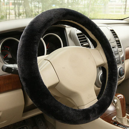Winter car steering wheel cover plush steering wheel cover to cover to keep warm in winter car to cover plush grips