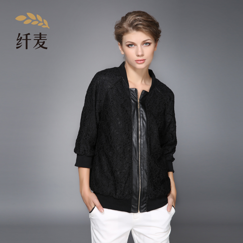 Winter coat/jacket collar commuter large size women loose printing polyester single paragraph two middle-aged women