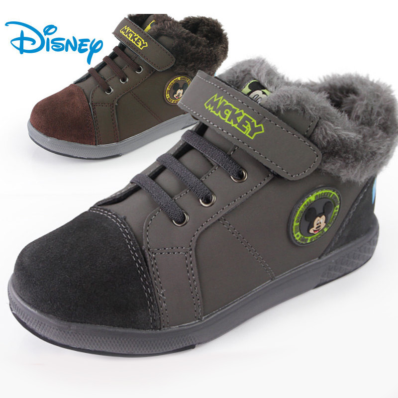 Winter new korean version of authentic disney children's shoes sneakers men's shoes sneakers casual shoes warm shoes
