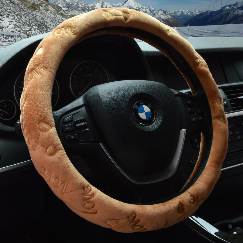 Winter plush car steering wheel cover applicable toyota ralink cause dazzle carlo lacaille camry rav4 highlander