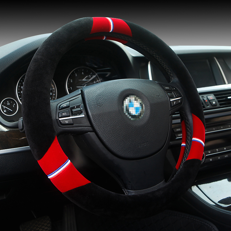 Winter plush car steering wheel cover car suitable for vw lavida mai teng excelle fox jetta