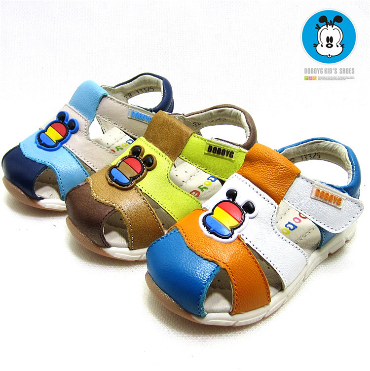 Winter sunshine genuine treasure 2016 summer new children's leather sandals leather baby toddler shoes soft bottom boys shoes