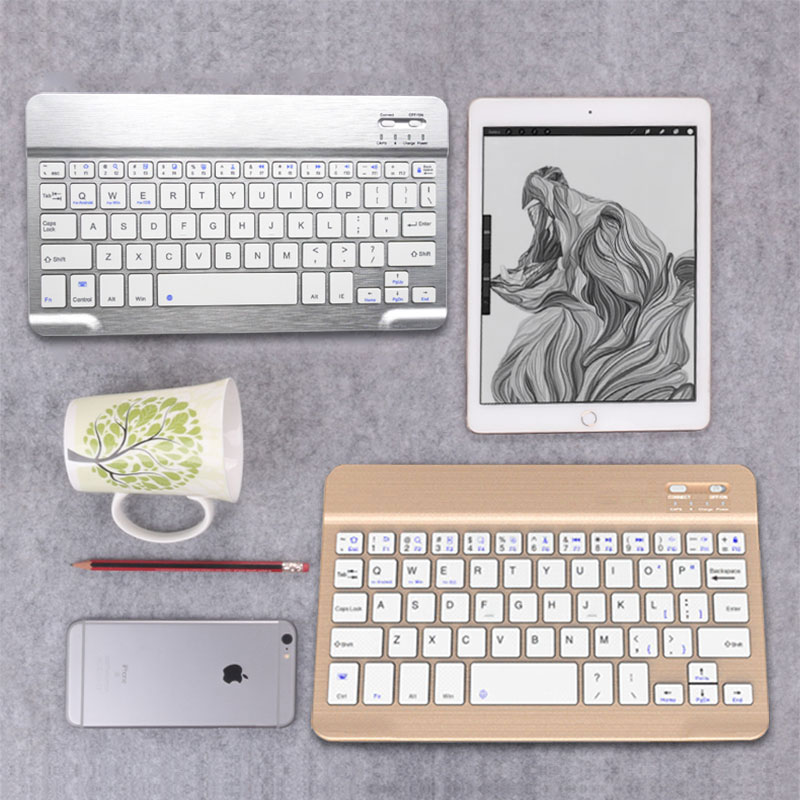 Wireless bluetooth keyboard apple ipad andrews millet huawei cell phone charging mini flat plate small computer keyboard thin