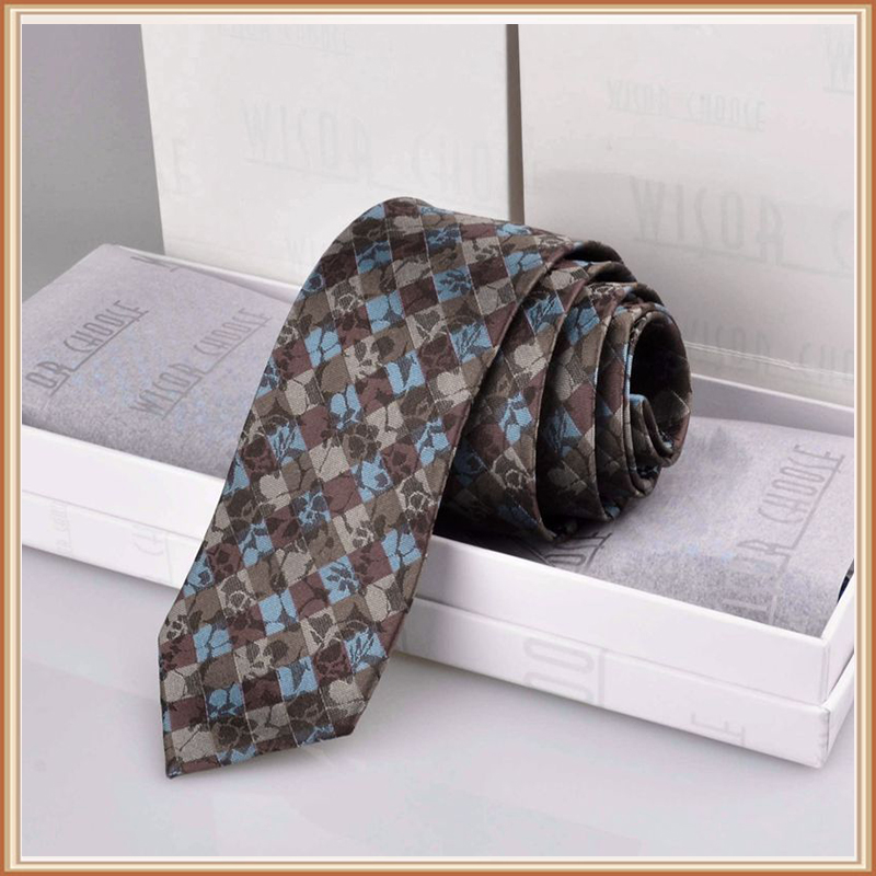Wisorchoose men's silk floral silk tie 6CM narrow version of the korean version of the narrow tie gift box