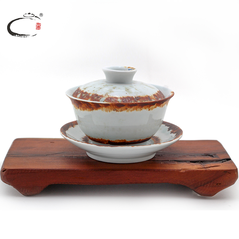 Within the color wood kiln gui xiang painted ceramic bowl large tureen jingdezhen bottle goured gong fu tea cup tea bowl