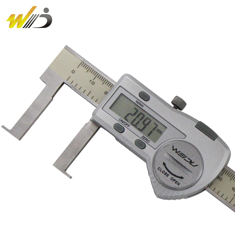 Within the flat head 361-degree uélé 30-300 riblet digital caliper 22-150 deep groove of electronic digital vernier caliper genuine