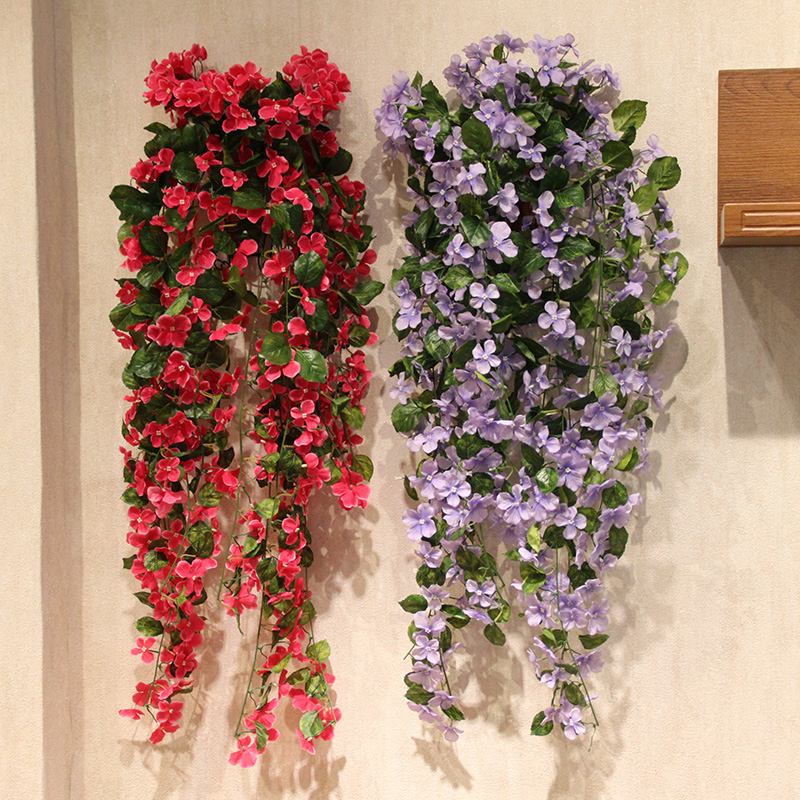 Wo + artificial flowers artificial flowers azalea vine rattan vines hanging artificial flowers silk flower hydrangea vine wounded in action decorative home accessories wall