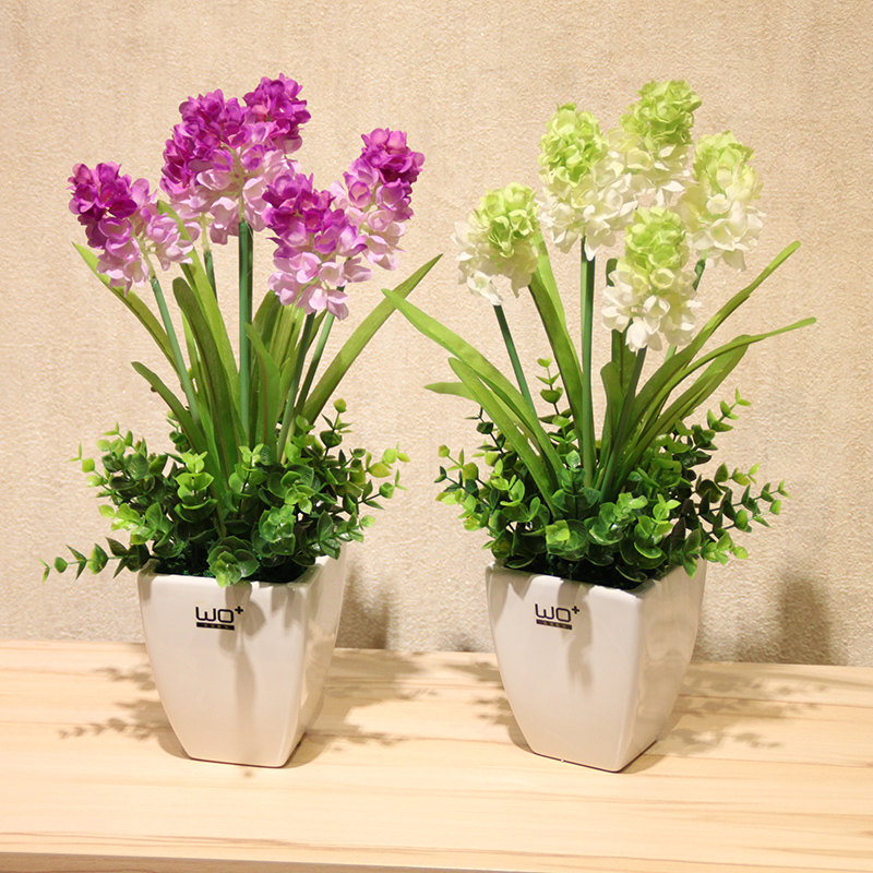 Wo + artificial flowers artificial flowers lavender hyacinthaceae with pots of lavender floral suit home decoration