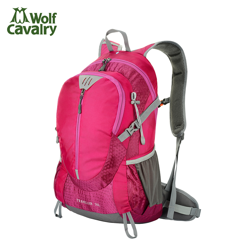 Wolf riding outdoor mountaineering bag men and women travel backpack waterproof burdens 35l outdoor bag hiking camping package