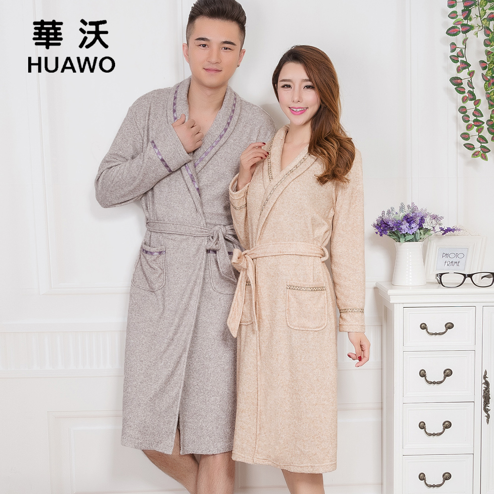 Get Quotations · Wolfowitz new autumn and winter men and women long sleeve  velvet robe towel towel couple long fb1ae84a3