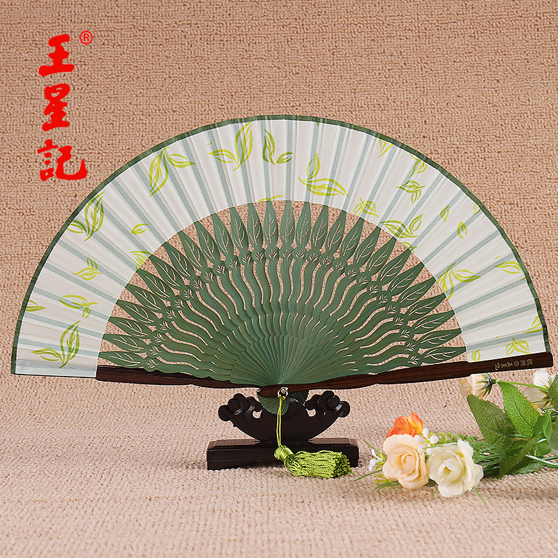 Women wangxingji antiquity silk chinese style silk folding fan and wind japanese folding fan female fan gift fan