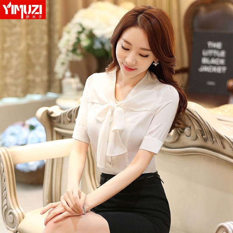 Women wear dresses summer short sleeve ol slim piece ms. positive dress overalls interview tooling white shirt